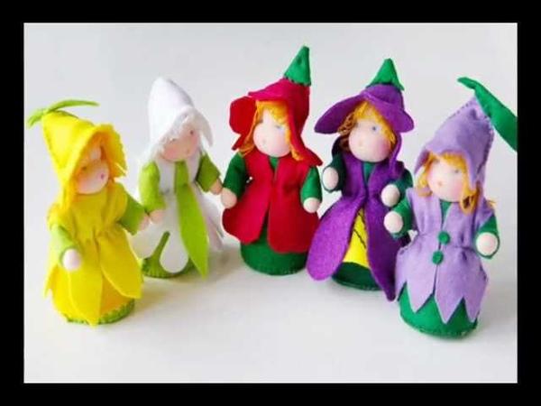Вальдорфские куклы. Цветочки.