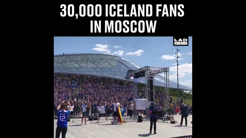 30,000 Iceland Fans In Moscow Today