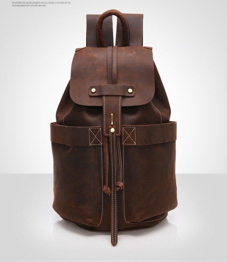 Кожаный рюкзак -