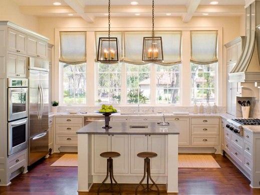 Кухни г образные дизайн с окном