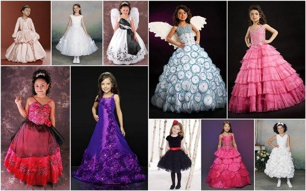 Вечерние платья для девочек с 4 до 6 лет