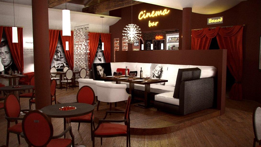Дизайн ресторана в стиле КИНО (фото)
