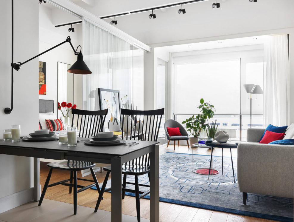 Светлая, полупрозрачная, просторная и женственная квартира, 50м2