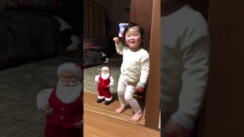 ダンシングベイビー☆メリークリスマス①☆ お尻フリフリ 赤ちゃんのセ