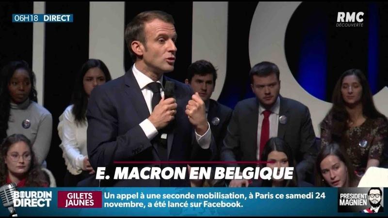 Macron traité de menteur en Belgique - ZAPPING ACTU DU 21/11/2018
