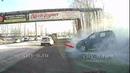 В Новокузнецке автоледи выдала мегадрифт, врубилась в столб и поехала дальше