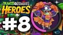 Прохождение Растения против Зомби Герои - Часть 8. Зомби сильнее растений