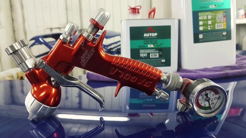 Краскопульт SAGOLA 4600 Titania 1 25 мм и лак AUTOP