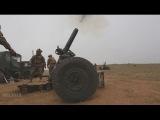 120-мм миномет / Морская пехота США и армия Японии на совместных учениях