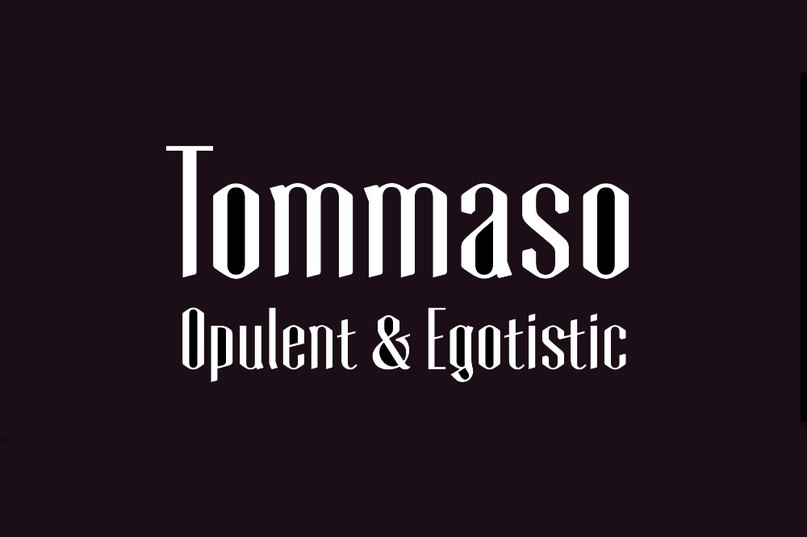 шрифт Tommaso Personal License