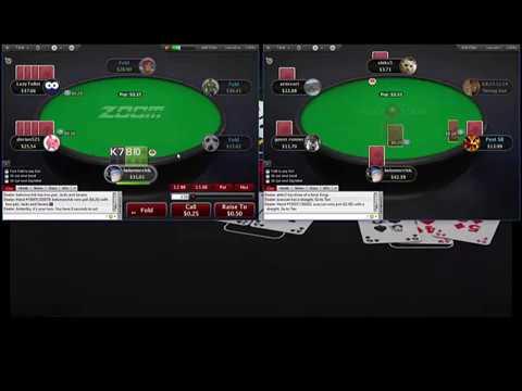 Omaha 5card PLO25 Pokerstars Омаха 5карт ПЛО25 часть 1