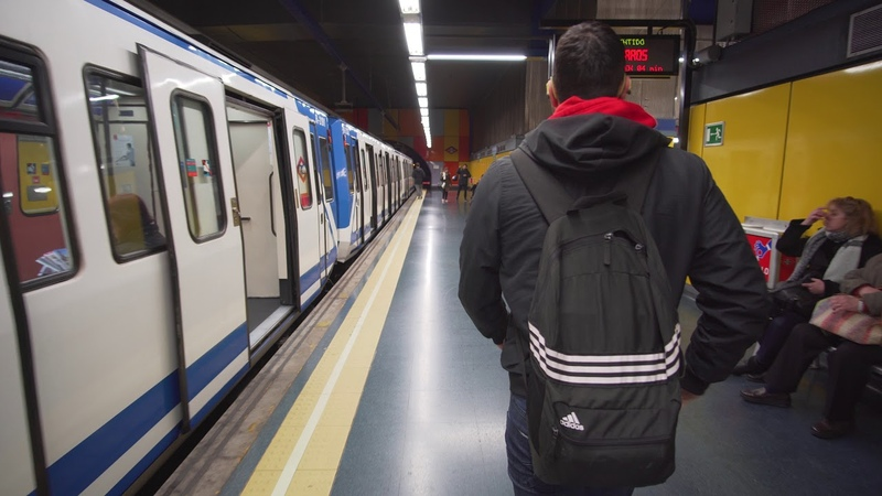 Spain, Madrid, metro ride from Buenos Aires to Alto de Arsenal