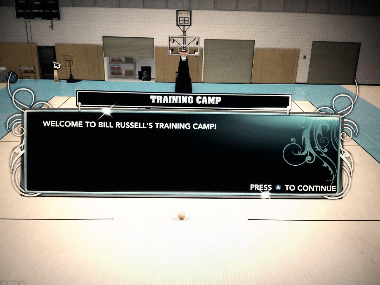 Тренировочный лагерь в режиме мой игрок нба2к13