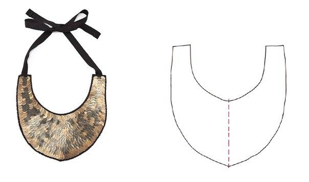 Как сделать выкройку колье для вышивки бисером