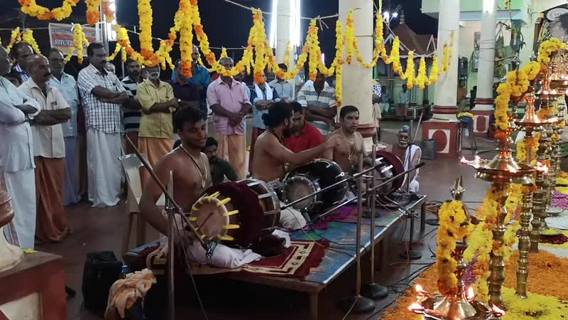 Drummers in sree balasubramanya swami temple, kerala