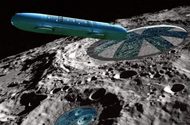 В лунном кратере нашли инопланетный корабль (Фото)