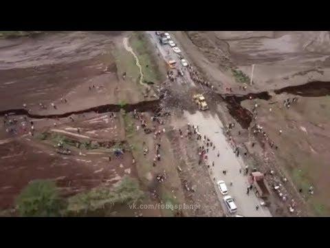 Огромная трещина в верхнем слое земной коры в Великой Рифтовой Долине, Кения | Big crack in Kenya