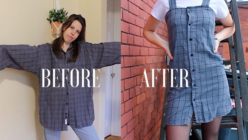 DIY Upcycle Men's Button Up Shirts Ep 2 Dress Urban Outfitters Style