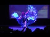 Быковская Ангелина. Танец с крыльями. Bellydance show.