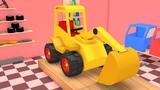 Construction Vehicles Excavator JCB Truck Formation 3D | Construction Vehicles Videos for Children