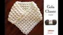 Gola Classic 3D - Gola de Crochê - passo a passo Simone Eleotério