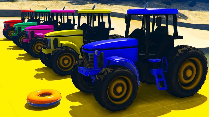 Мультики Машинки для Детей Синий Трактор и Цветные Машинки Развивающие Мультики для Малышей