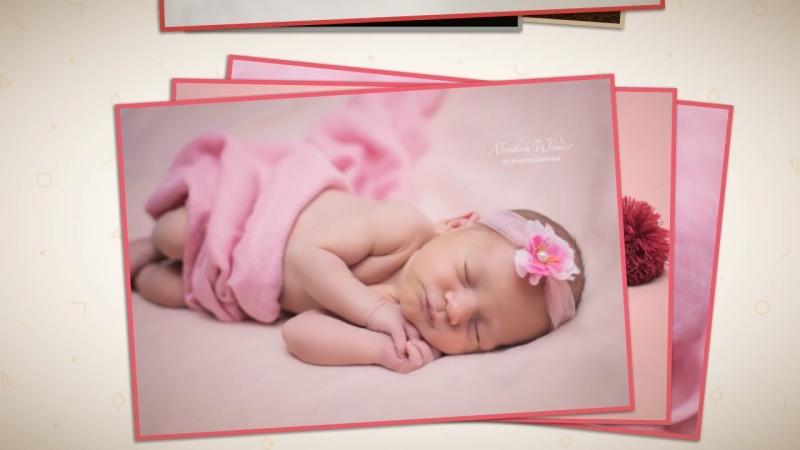 Слайд шоу newborn фотосъёмок