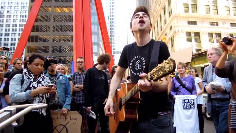 Anti-Flag @ Occupy Wall Street One Trillion Dollars and If Its Good for the Eco