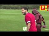 SAMURAI dominando con el Manchester United. RADAMEL FALCAO, MARCOS ROJO Y MATA exhiben su técnica