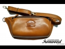 Поясная сумка из натуральной кожи Ручная работа Diary from leather handmade