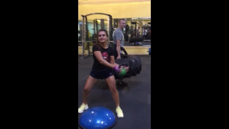Тренировка Сергея и Оксаны