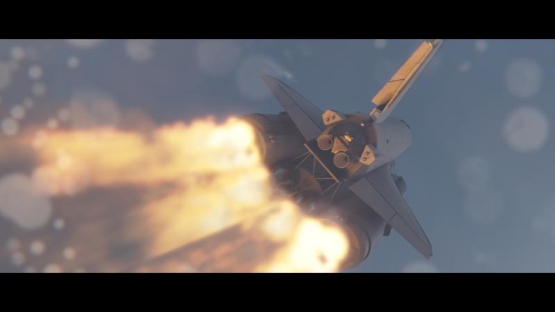 Rocket Launch Energia Buran Blender3D