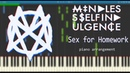 Mindless Self Indulgence - Sex for Homework (piano arrangement) - Synthesia