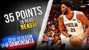 Joel Embiid Full Highlights 2018.11.12 76ers vs Heat - 35 Pts, 18 Rebs, BEAST! | FreeDawkins