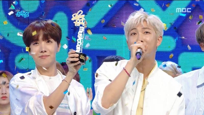 [HOT] 4월 3주차 1위 방탄소년단 - 작은 것들을 위한 시(BTS - Boy With Luv) Show Music core 20190420