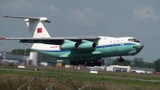 Китайcкие ВВС в Кольцово. 7 J-10 и 3 Ил-76МД. China Air Force Group in Koltsovo.