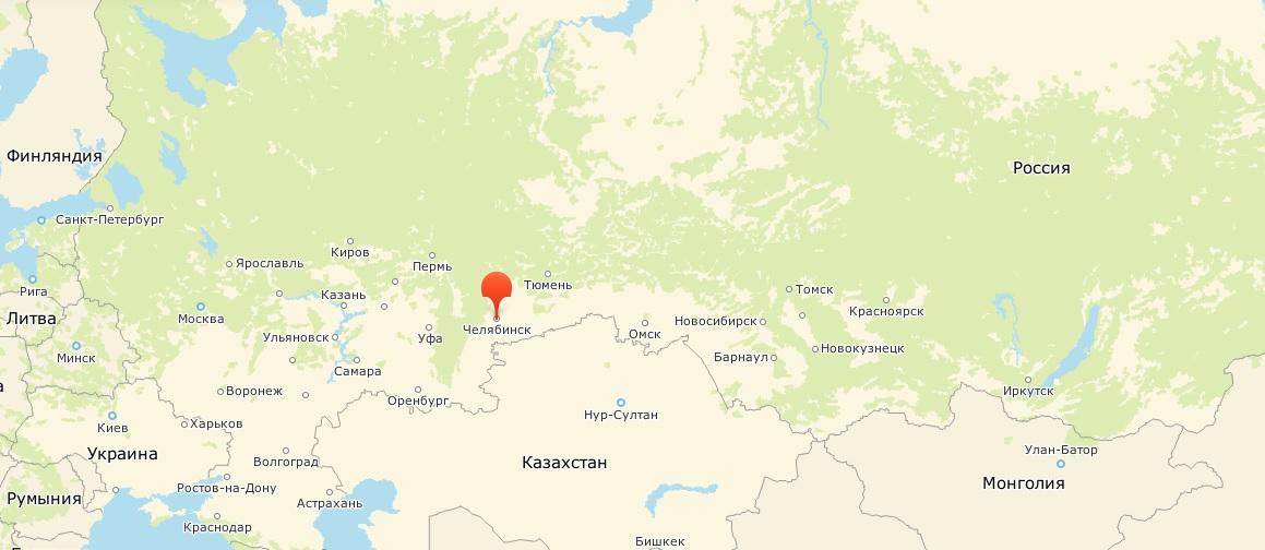 Карта Челябинск