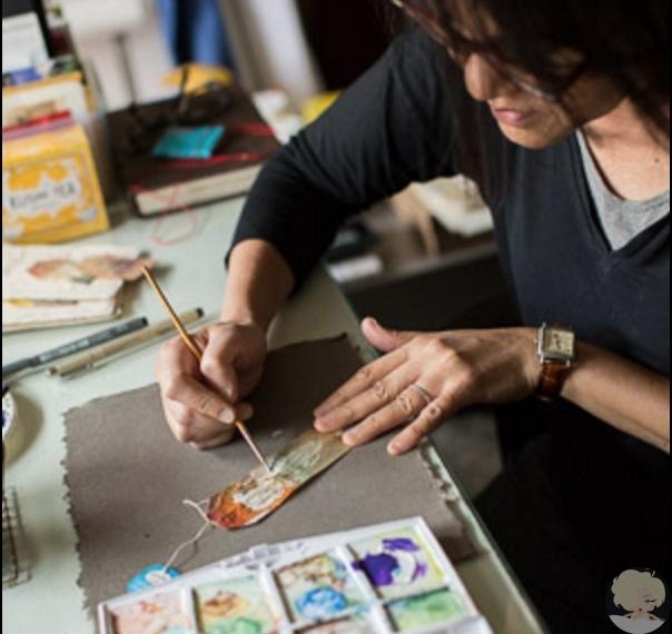 Руби Сильвиус  художник, рисующий на чайных пакетиках