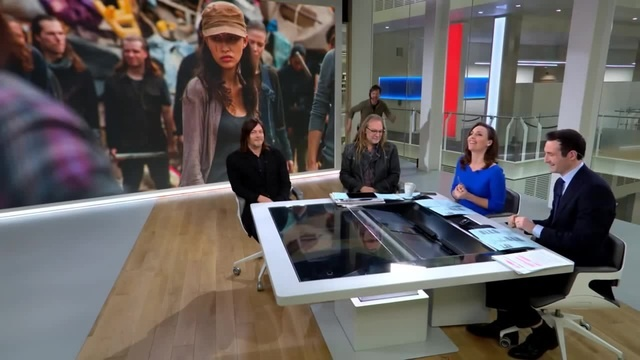 The Walking Dead's Norman Reedus dragged off the Sky News Sunrise set · coub, коуб