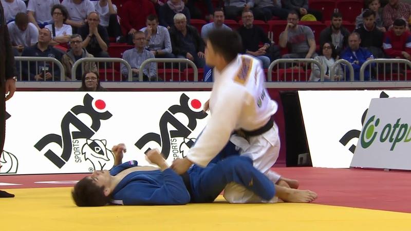 ONO Shohei (JPN) (TJK) MAKHMADBEKOV Somon -73Kg Semi Final Düsseldorf Grand Slam 2019