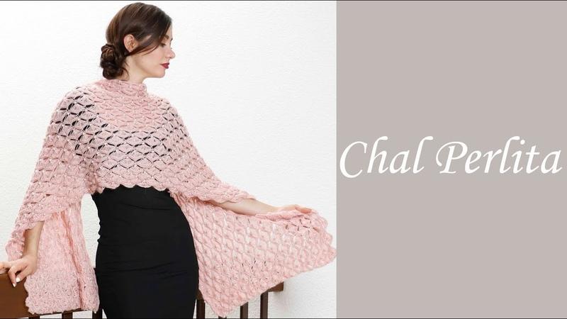 Cómo tejer fácil un chal elegante - Chal perlita Alize - Estambres Karina
