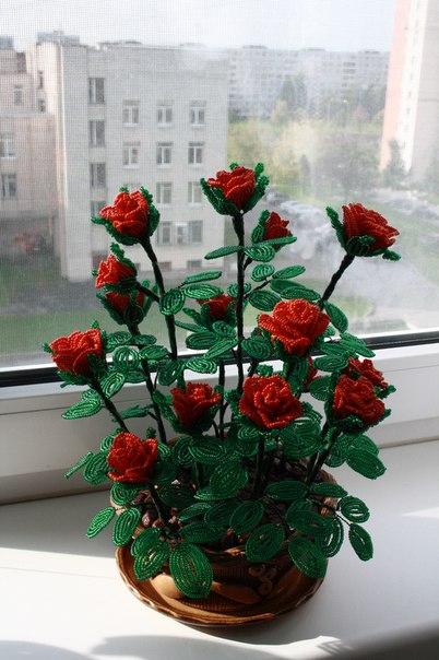 Поделки из бисера своими руками деревья цветы