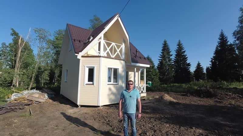 Каркасный дом 7х7м по проекту Ландыш 1 в Стеклянном ручье, Ленобласть