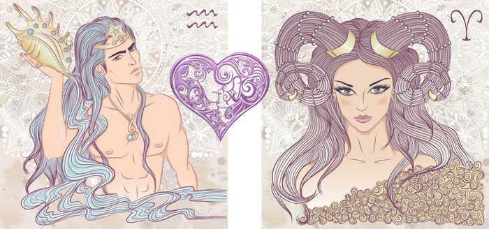 Парень Водолей и девушка Овен💞