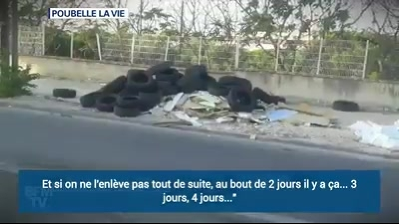 Wow this is France..Litter and rubbish is illegally dumped near Paris.