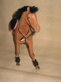 Как сделать ногавки на игрушечную лошадь