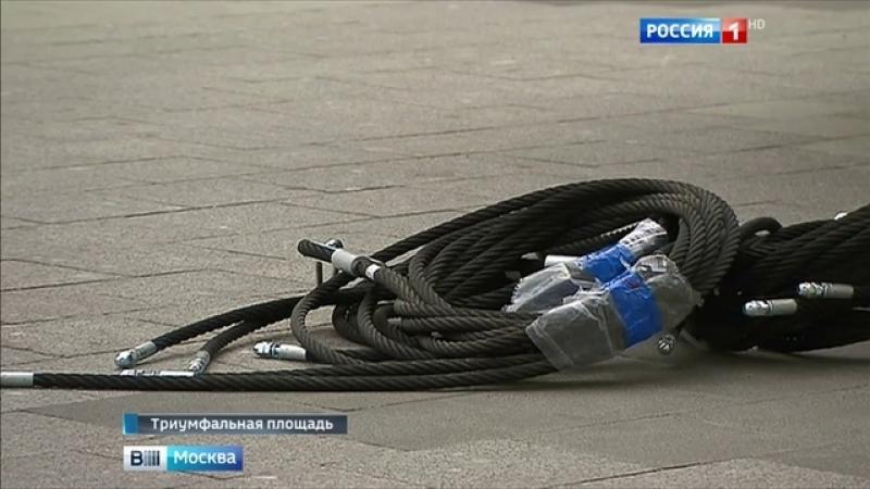 Вести-Москва • На Триумфальную площадь после ремонта прилетели качели