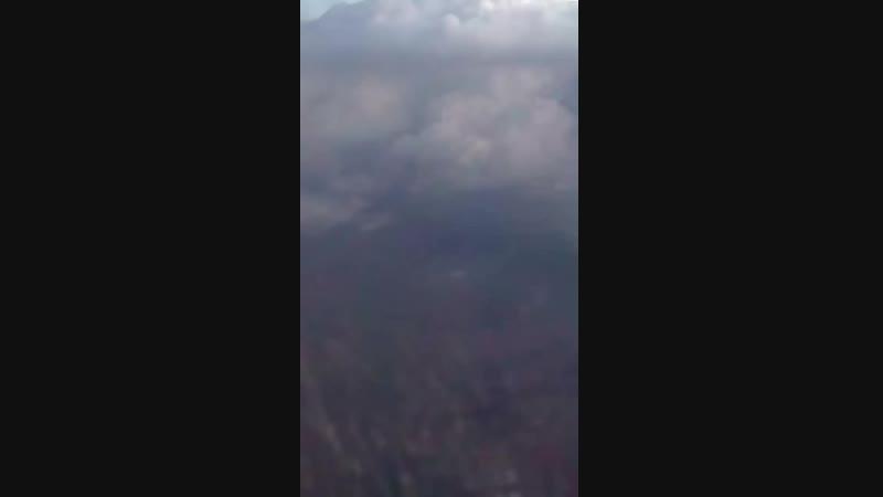 Гроза с высоты 11000м