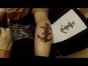 Процесс тату в стиле олд скул/ The process of tattoo in the style of old school