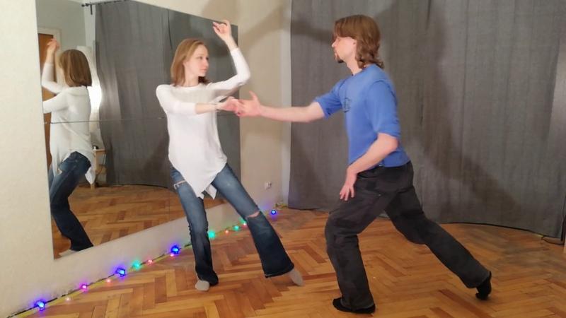 Парный танец без схем Денис Сражаев и Евгения Барменкова